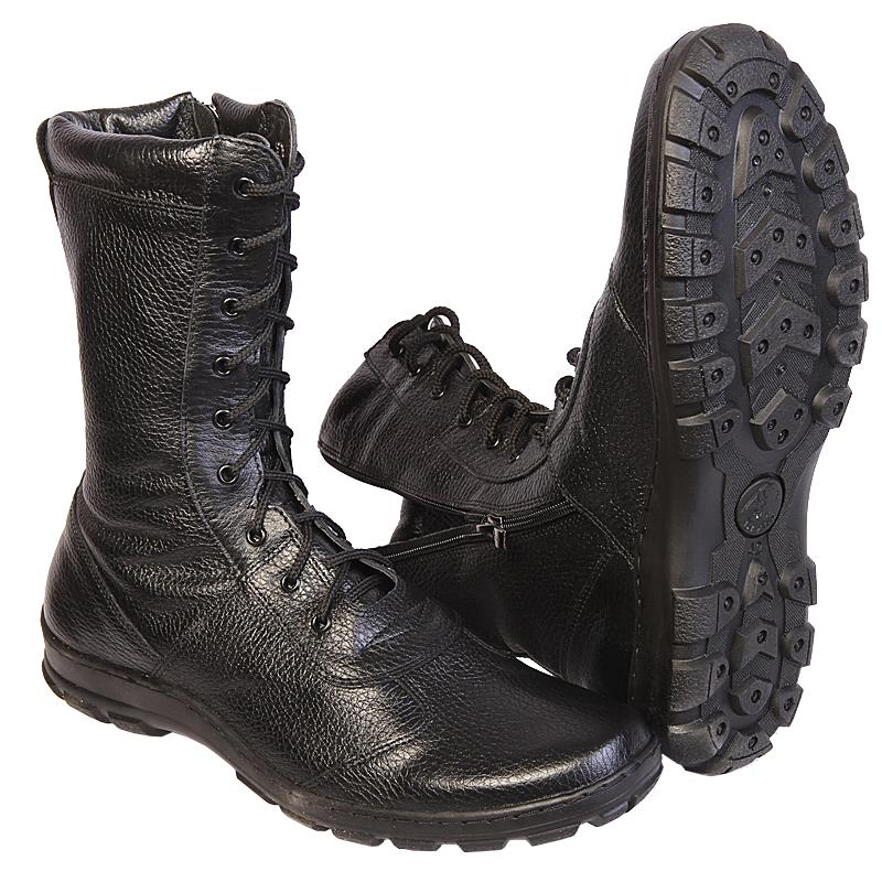 """Ботинки с высоким берцем Утка """"BIZON"""" с молнией,  кожа хром """"Флотер"""" (40) от Магазин спецодежды """"URSUS"""""""
