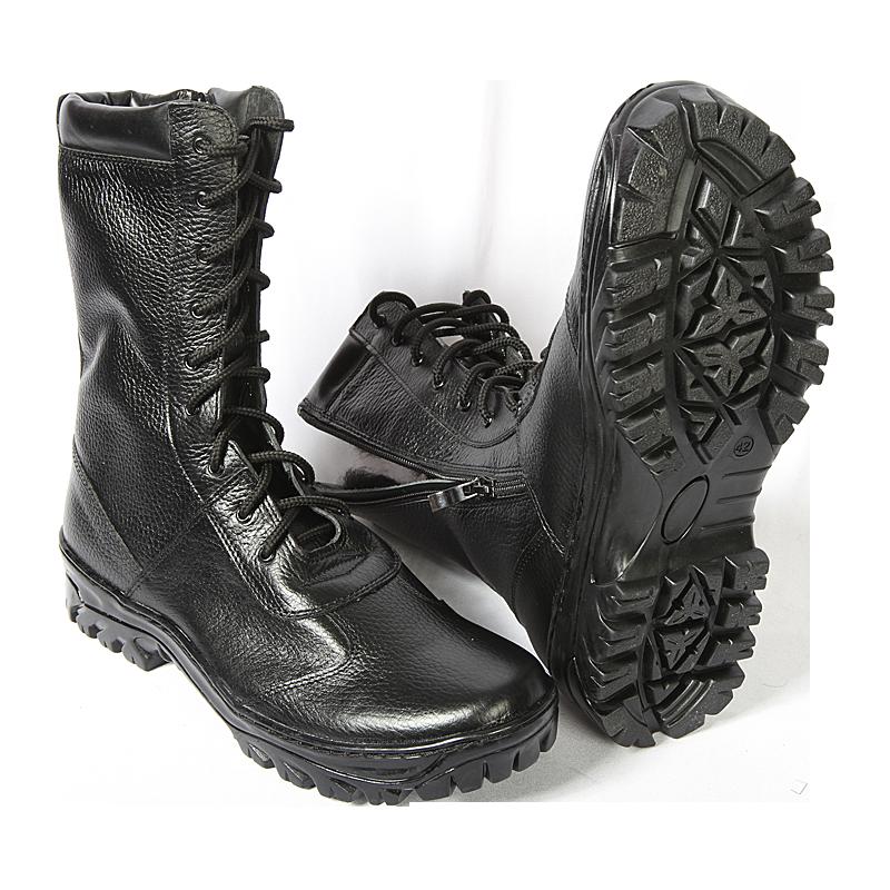 """Ботинки с высоким берцем Утка """"BIZON"""" с молнией,  на нат. меху, кожа хром. """"Флотер"""" от Магазин спецодежды """"URSUS"""""""