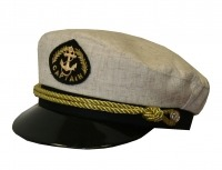 """Капитанка 20-2 лён, бежевая, с регулировкой,  витой золотой шнур от Магазин спецодежды """"URSUS"""""""