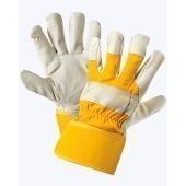 """Перчатки комбинированные ткань-кожа люкс,  тип Юкон утепленные от Магазин спецодежды """"URSUS"""""""